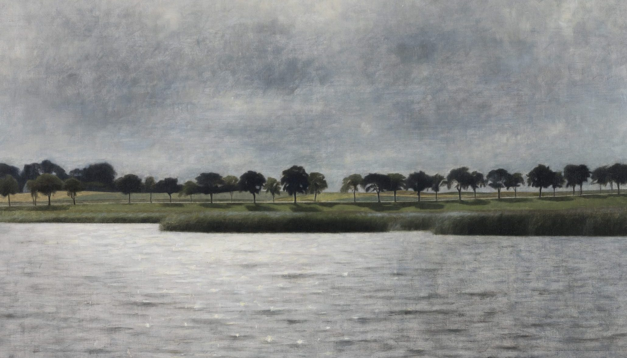 Værket 'Solregn' er malet af Vilhelm Hammershøi og er udlånt til Ordrupgaard af Augustinus Fonden.